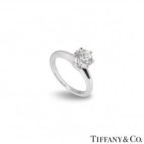 Tiffany & Co. Round Brilliant Cut Diamond Ring 1.27ct I/VS1 XXX